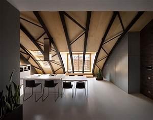 Holz Farbe Anthrazit : anthrazit farbe in moderner dachgeschosswohnung ~ Sanjose-hotels-ca.com Haus und Dekorationen
