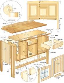 butcher block kitchen island cart mission sideboard woodworking plans woodshop plans