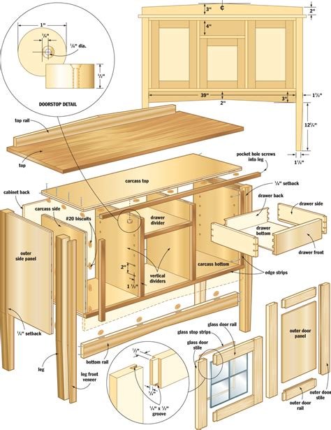 mission sideboard woodworking plans woodshop plans