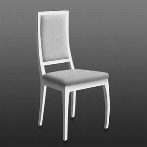 Chaise En Bois Blanc : lot de 2 chaise rubi bois blanc tissu gris achat vente chaise bois tissu h tre ~ Teatrodelosmanantiales.com Idées de Décoration