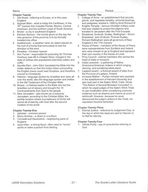 chapter 16 scarlet letter scarlet letter worksheets resultinfos 20812
