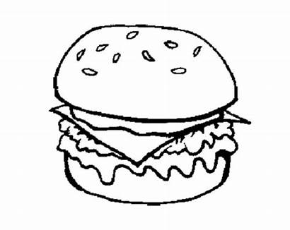 Coloring Junk Burger Pages Cheese Burgers Pizza