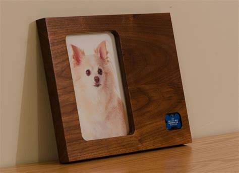 hand crafted pet keepsake modern picture frame id tags