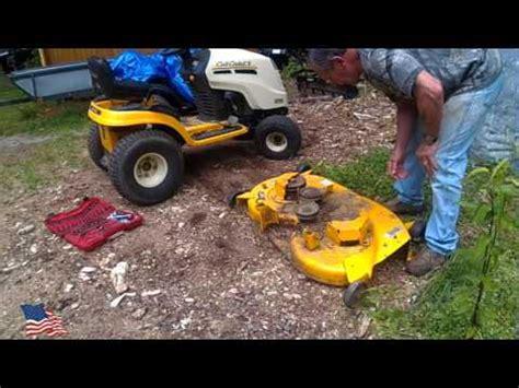 Cub Cadet Mower Deck Belt Problems by Mtd Yard Machines 38 Inch Mower Deck Installation And