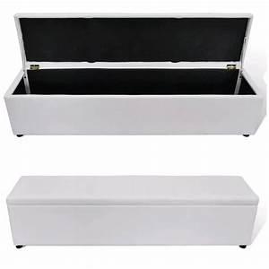 Coffre De Rangement Blanc : la boutique en ligne banc banquette coffre de rangement blanc taille large ~ Nature-et-papiers.com Idées de Décoration