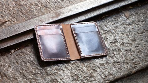 leather templates leather vertical wallet template build along tutorial makesupply