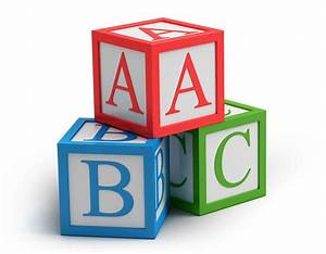 the dawn of wlearning and the full alphabet of learning With abc letter blocks