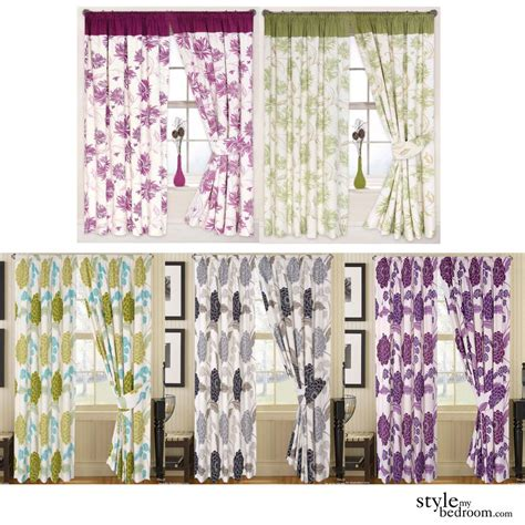 pair fully lined big floral print curtains in 6 colours