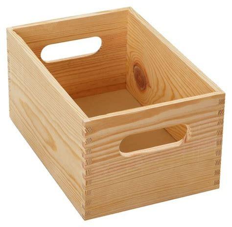 caisse en bois pour rangement d atelier 40x30x15 cm