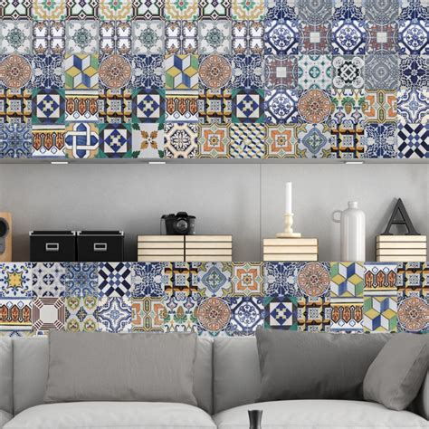 portuguese tiles stickers amadora pack   tiles