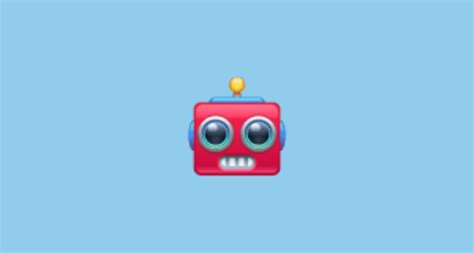 robot face emoji  whatsapp
