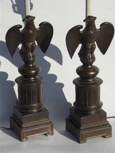 vintage federal eagle table lamps cast metal  antique