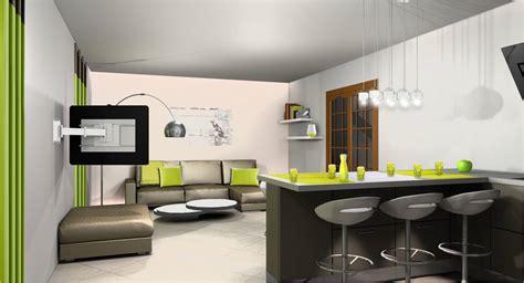 image cuisine ouverte sur salon cuisine indogate decoration interieur salon cuisine
