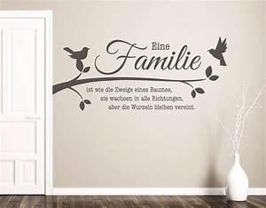 Wandtattoo Sprüche Familie : wandtattoo wohnzimmer wandtatoo spruch familie ist zweige eines baumes pkm208 ebay ~ Frokenaadalensverden.com Haus und Dekorationen