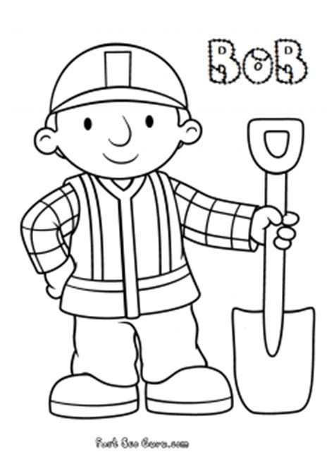 print  bob  builder coloring  pages  kids coloring pages printable