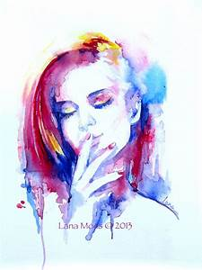 Original Watercolor Painting - Abstract Portrait ...