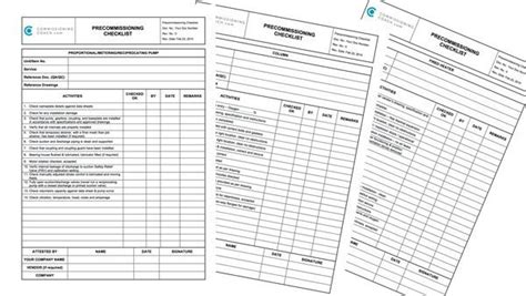 heater and fan in one pre commissioning checklist now online free download