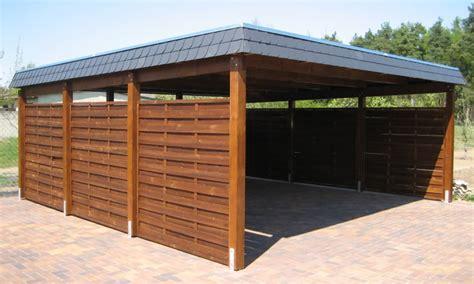 Flachdach Carports & Holzgaragen Als Individueller Bausatz