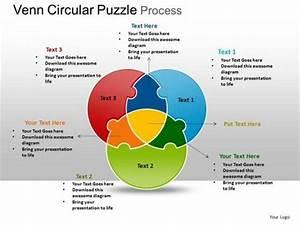 Backgrounds Circular 3 Stages Venn Diagram Puzzle Process