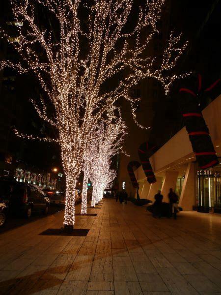 arboles iluminados nueva york usa fotos de navidad
