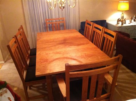 dining room table  chairs missioncraft furniture