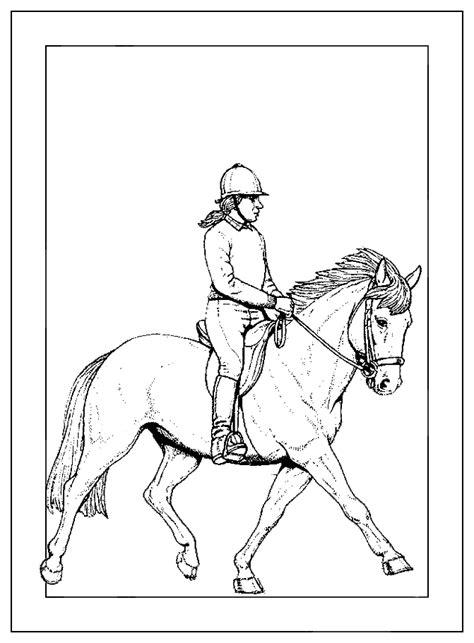 Kleurplaat Paardrijden Springen by Handipaard Blind Of Slechtziend