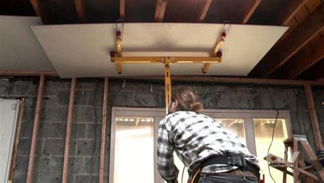 hang drywall on ceilings video diy