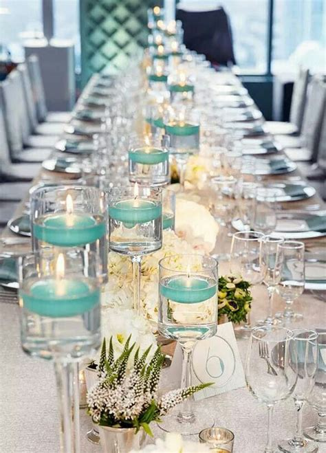 tiffany blue table decorations teal and white wedding wedding centerpieces pinterest