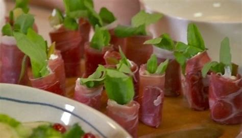 berry canapes parma ham goats cheese and rocket canapés by berry