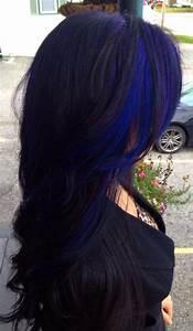 Blue hair streaks | Hair | Pinterest