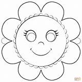 Mask Coloring Flower Pages Printable Masks Supercoloring Drawing Paper Templates Crafts Categories sketch template