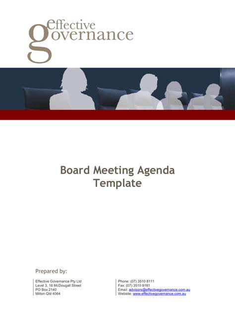 board meeting agenda template  word   formats