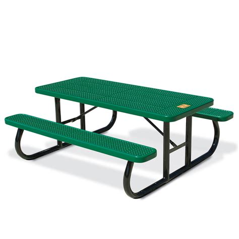 steel picnic table frame 6 39 rect perf steel commemorative table portable frame