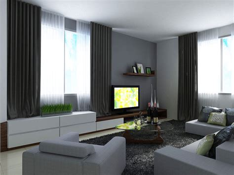 modern decoration gray living room walls with black