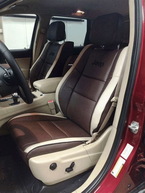 jeep grand cherokee custom interior katzkin custom leather upholstery installed by webster 39 s