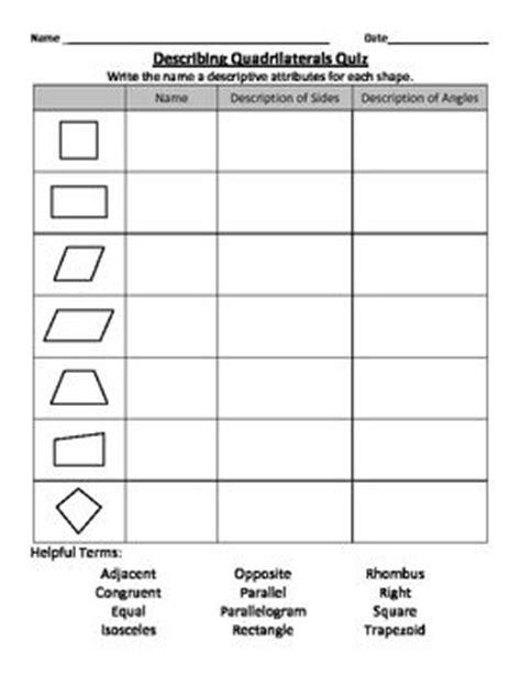 describing quadrilaterals  grade math common core