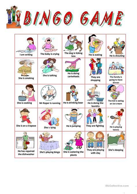bingo game worksheet  esl printable worksheets