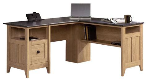 sauder august hill l shaped desk shop houzz sauder sauder august hill l desk in dover oak