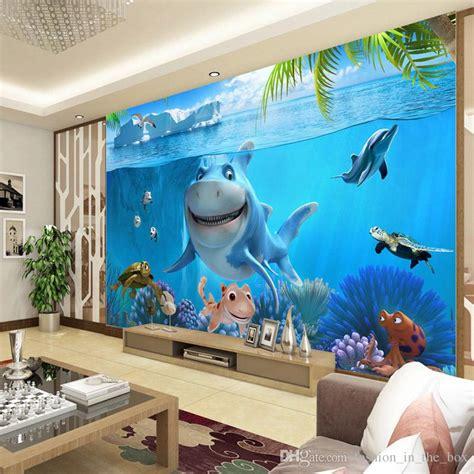 underwater world wallpaper  wall mural shark photo