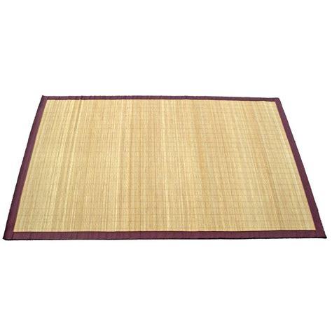 tapis naturel bambou naturel    cm leroy merlin