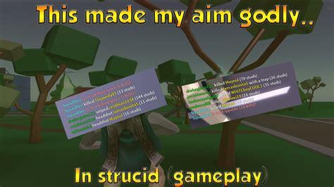 aim godly  strucidstrucid gameplay