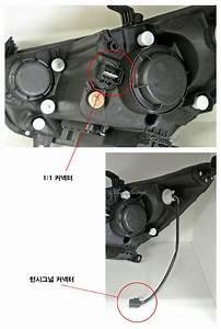 Audi Style Projector Angel Eyes Headlights For Hyundai