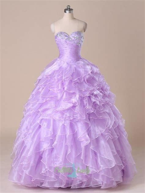 lavender beaded sweetheart ruffles quinceanera dresses