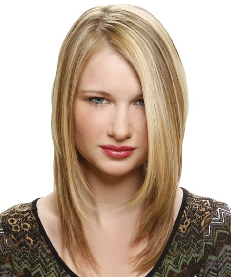 medium straight alternative hairstyle honey blonde hair