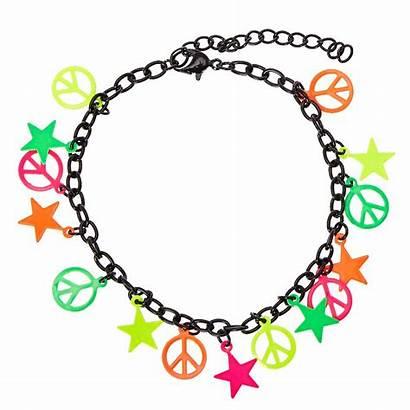 Bracelet Charm Neon Chain Claires Claire