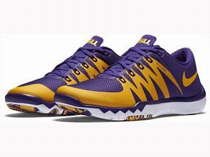 LSU Tigers Nike NCAA Men's Free Trainer 5.0 V6 AMP Running ...