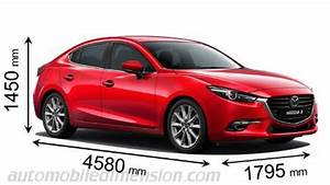Dimension Mazda 3 : dimensions of mazda cars showing length width and height ~ Maxctalentgroup.com Avis de Voitures