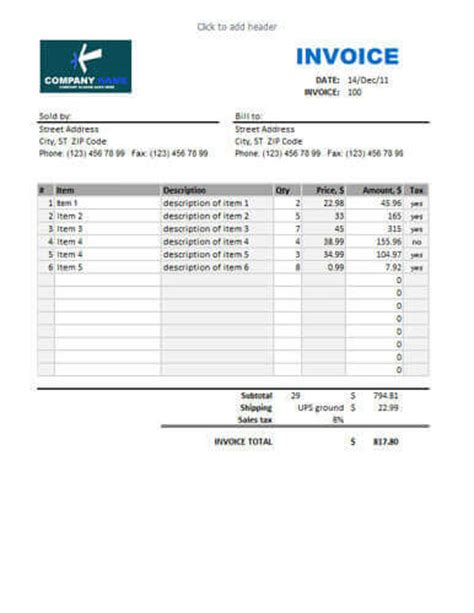 Description Template Sles by Sales Invoice Templates 27 Exles In Word And Excel