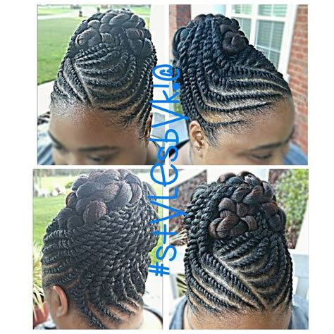 Black Updo Twist Hairstyles by 85 Photo Look With The Flat Twist Hairstyles