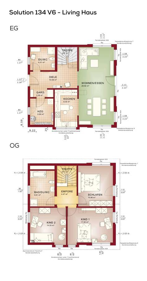Grundrisse Efh Ohne Keller by Grundrisse Einfamilienhaus Mit Satteldach 4 Zimmer 134